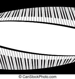 biały, czarne piano, szablon