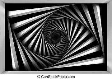 biały, czarnoskóry, spirala