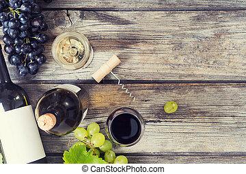 biały czerwony, wino