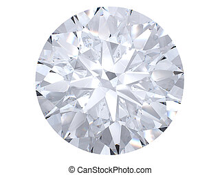 biały, diament, górny prospekt