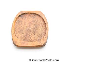 biały, drewno, taca