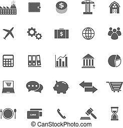 biały, ekonomia, tło, ikony