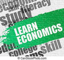 biały, ekonomika, uczyć się, cegła, wall.