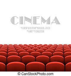 biały, kino, ekran, audytorium