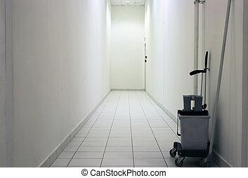 biały, korytarz