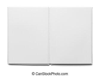 biały, książka, otwarty