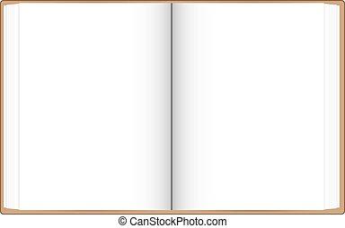 biały, książka, otwarty, urządzenia wzywające do telefonu