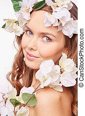 biały kwiat, piękno