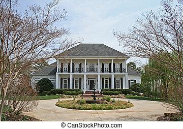 biały, luksus, dom