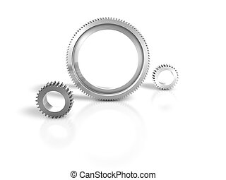 biały, metal, mechanizmy, tło