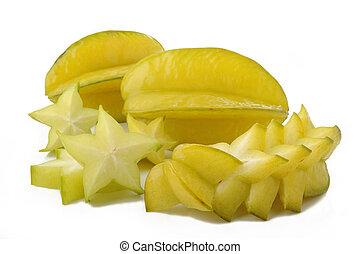 biały, owoc, gwiazda