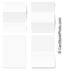 biały, papier, zbiór, pisanie
