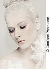 biały, piękno