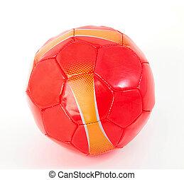 biały, piłka nożna, odizolowany