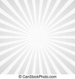 biały, promienie, tło