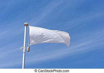 biały, przelotny, bandera