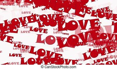biały, przelotny, miłość, czerwony, słówko