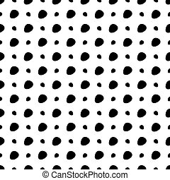 biały, punkty, czarne tło