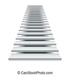 biały, schody