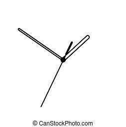 biały, siła robocza, odizolowany, tło, zegar