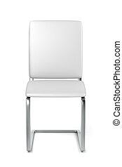 biały, skóra, jadalny, krzesło