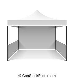biały, składany, namiot