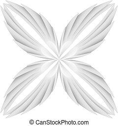 biały, skrzydełka
