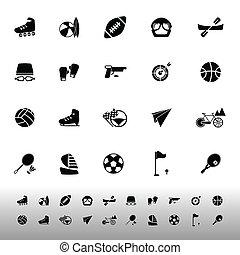 biały, sport, ekstremum, tło, ikony