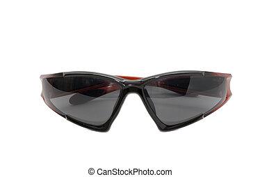 biały, sunglasses, odizolowany