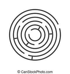 biały, tło., wektor, zdezorientować, ring, koło