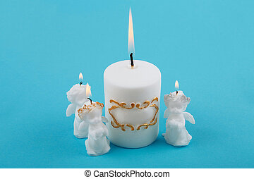 biały, wielkanoc, świece, w, przedimek określony przed rzeczownikami, formułować, od, angels.
