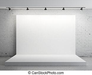 biały, zasłona