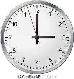 biały, zegar