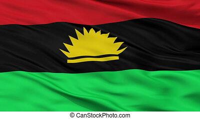 Biafra Flag Closeup Seamless Loop