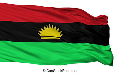 Biafra Flag Isolated Seamless Loop