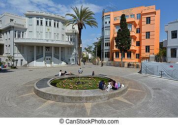 Bialik Square in Tel Aviv - Israel
