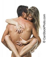biancheria intima, coppia, sesso, sexy, bianco, detenere