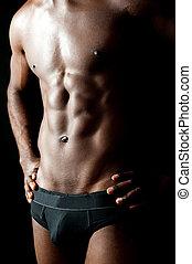 biancheria intima, shirtless, stile posa, modello, maschio