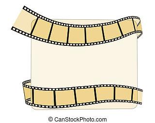 bianco, 3d, striscia cinematografica