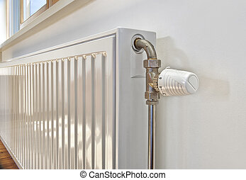 bianco, apartment., radiatore