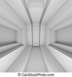 bianco, architettura, fondo, 3d