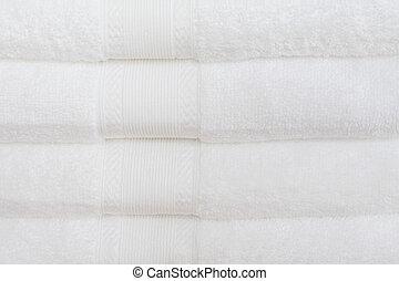 bianco, asciugamani