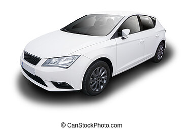 bianco, automobile