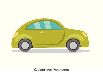 bianco, automobile, cartone animato, fondo