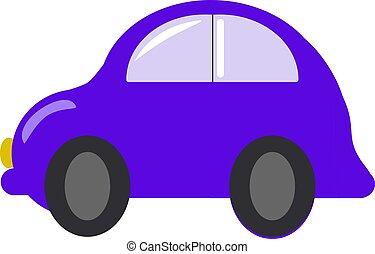 bianco, automobile, viola, fondo., vettore, illustrazione