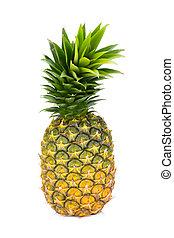 bianco, backgound, isolato, ananas