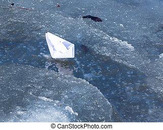 bianco, barca carta