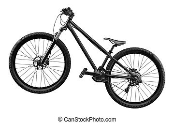 bianco, bicicletta, isolato, fondo
