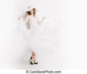 bianco, biondo, donna