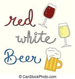 bianco, birra, rosso